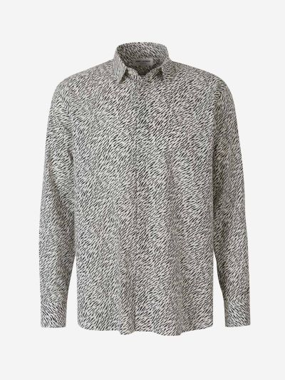 Tiger Printed Cotton Shirt