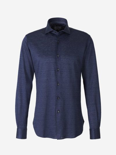 Silk and Linen Knit Shirt