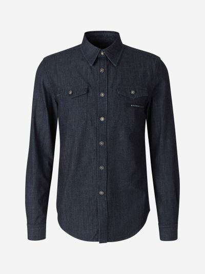 Camisa Denim Logo