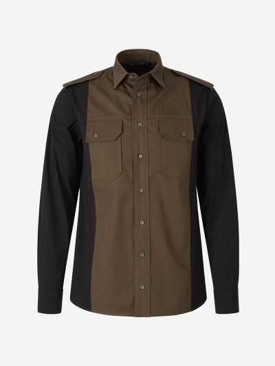 Bicolor Military Shirt