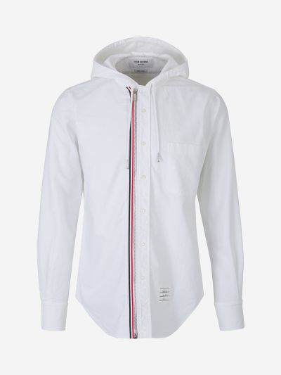Cotton Hooded Shirt