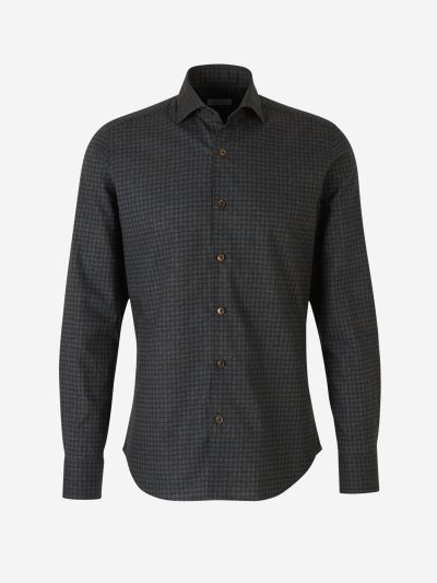 Polka Dot Flannel Shirt
