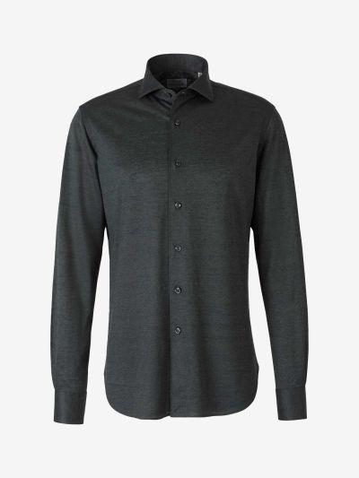 Silk Linen Piqué Shirt
