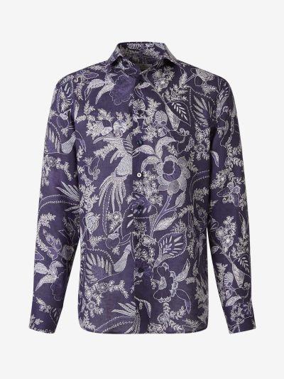 Camisa Floral Lino