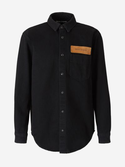 Denim Logo Overshirt