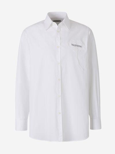 Camisa Popelina Flor 3D