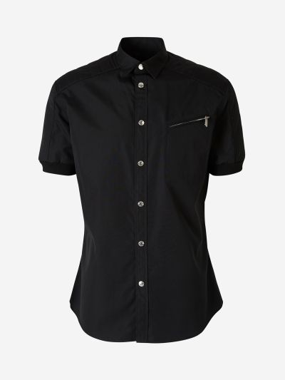 Biker Shirt with Shoulder Pads