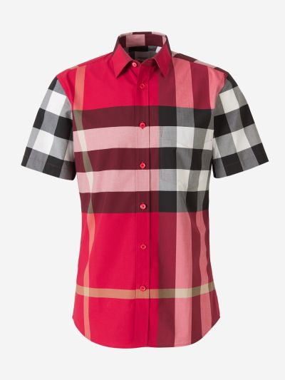 Short-sleeved checked shirt