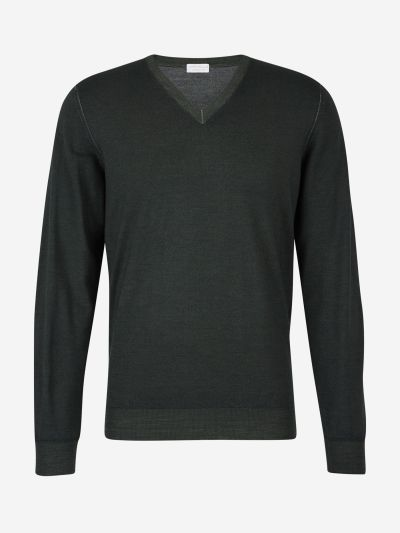 "Wool jumper with ""V"" neck"