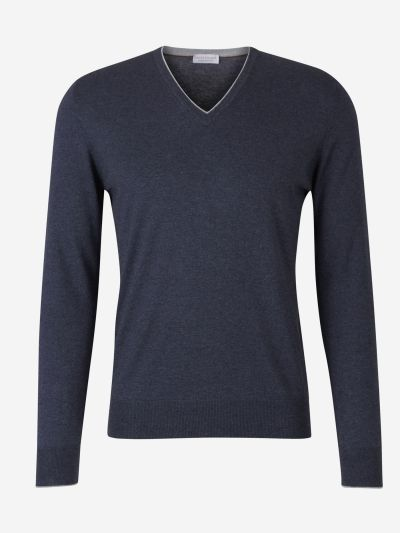 V-Neck Contrast Sweater
