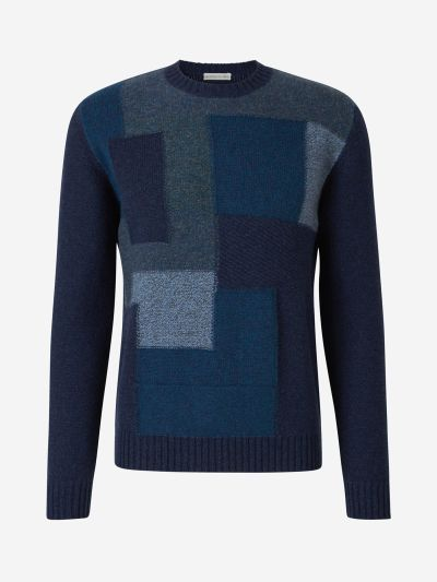 Patchwork Knit Sweater