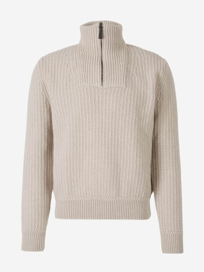 Zipper Cashmere Sweater