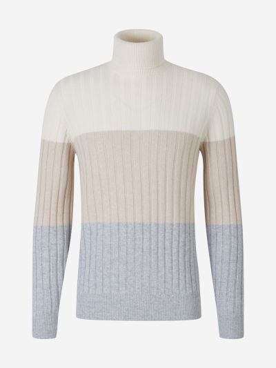 Tricolor Ribbed Sweater