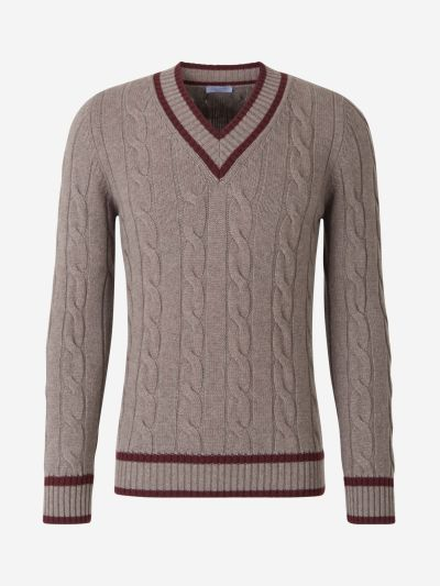 Wool Cable Knit Sweater
