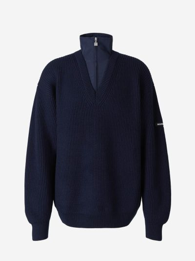 Double Neck Wool Sweater