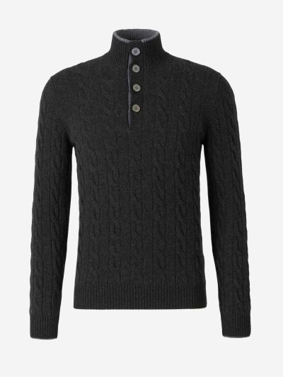 Cashmere Buttons Sweater