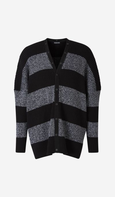 Striped Ribbed Cardigan