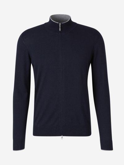 Contrast Collar Cardigan