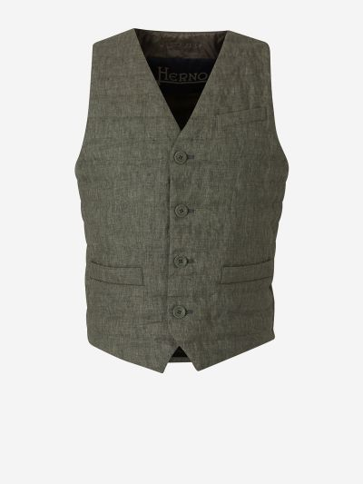 Linen Quilted Vest