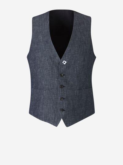 Cotton Denim Waistcoat