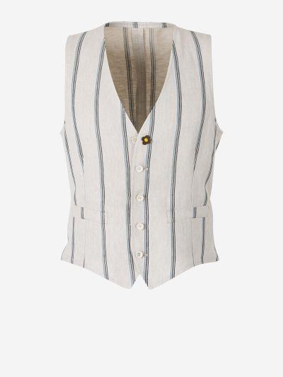 Striped Wool Waistcoat