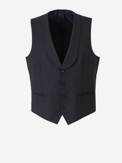 Straight Closure Wool Vest