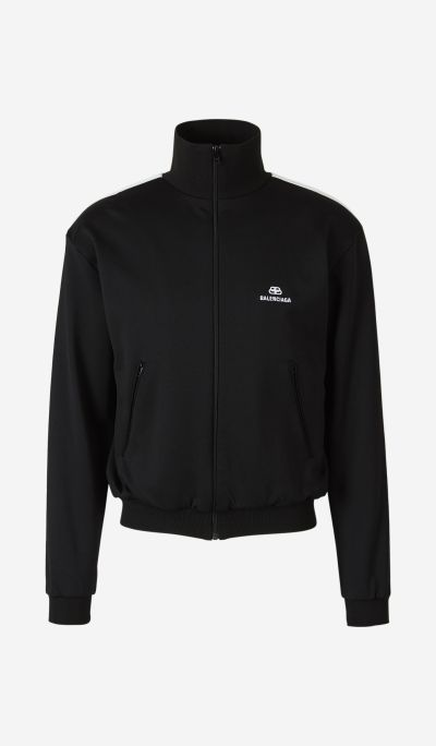 Embroidered Logo Zip Sweatshirt