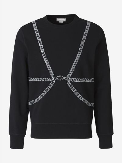 Embroidered Chains Sweatshirt