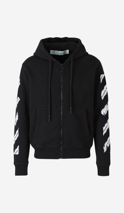 """Airport Tape"" Zip-Up Sweatshirt"