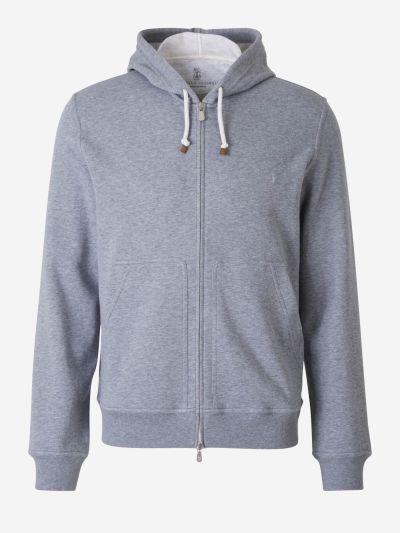 Heather cotton sweatshirt