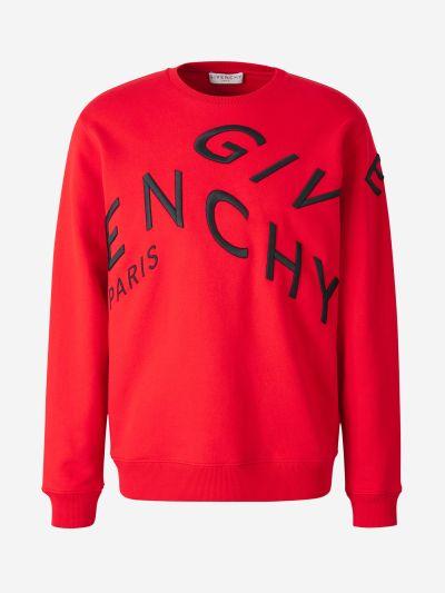 Refracted Embroidered Sweatshirt