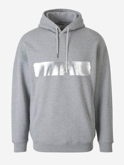 Silver Logo Hoodie
