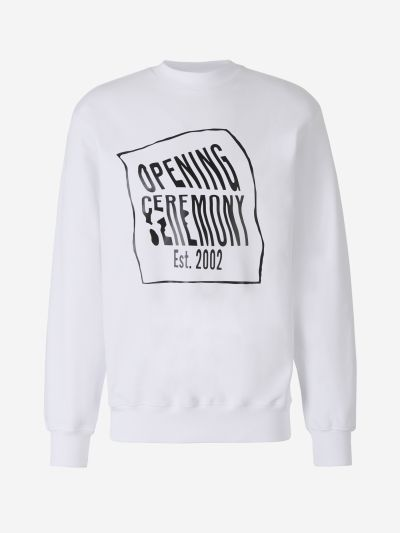 Deformed Logo Sweatshirt