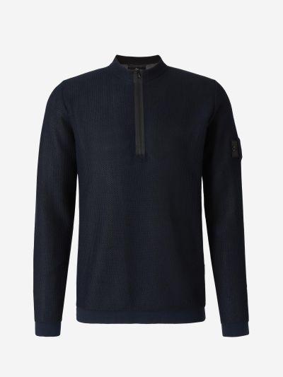 Half Zip Mesh Sweatshirt