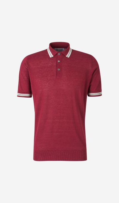 Linen and Cotton Polo Shirt