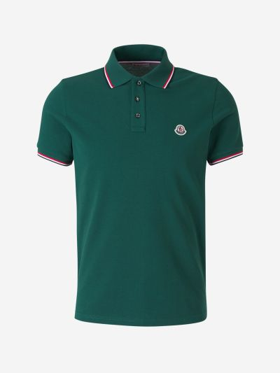 Polo Shirt with Stripes Detail