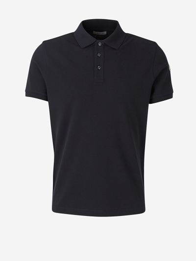Reverse Collar Logo Polo Shirt