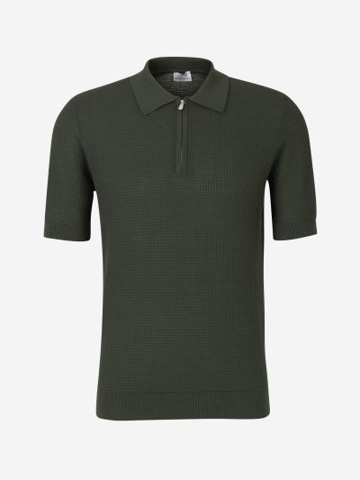 Zip Knit Polo Shirt