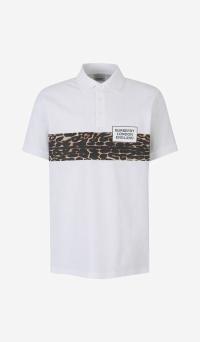 Leopard Stripe Piqué Polo Shirt