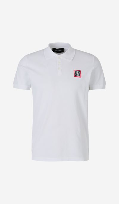 Embroidered D2 Polo Shirt