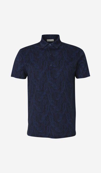 Paisley Print Polo Shirt