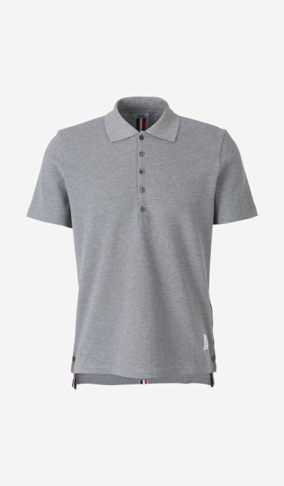 Striped-back Piqué Polo Shirt