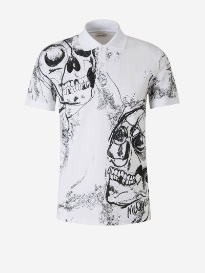 Skulls Print Polo