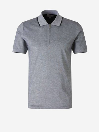 Cotton Zip Polo