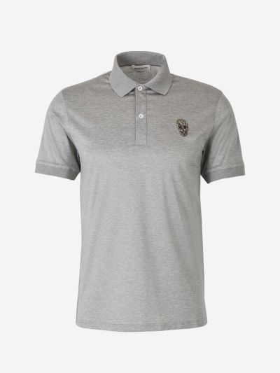 Skull Embroidered Polo