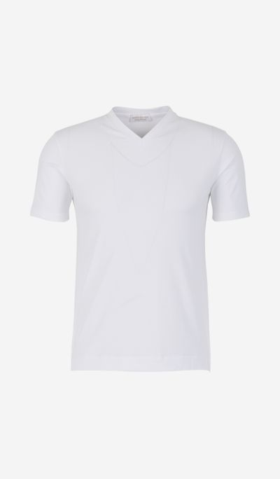 "T-Shirt With ""V"" Neck"