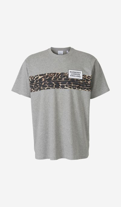 Leopard Bordered T-Shirt