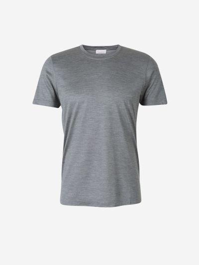 Plain Silk T-shirt