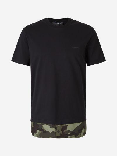 Camiseta Combinada Camuflaje