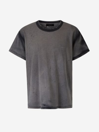 Perforated Washed T-shirt